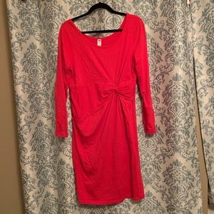 Fitted red maternity dress EUC